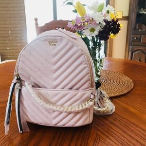4b4c4f1a17b6 Victoria s Secret Bags - VS Pebbled V-Quilted Small City Backpack in Pink
